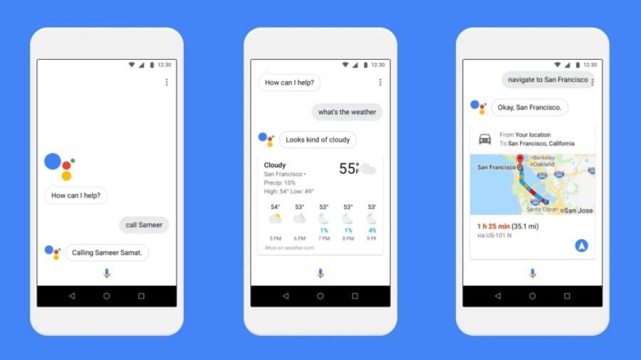 ตัวอย่างการใช้งาน Google Assistant